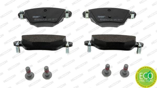 23557 FERODO PREMIER ECO FRICTION nicht für Verschleißwarnanzeiger vorbereitet, mit Bremssattelschrauben Höhe 1: 50mm, Dicke/Stärke: 16,8mm Bremsbelagsatz, Scheibenbremse FDB1416 günstig kaufen