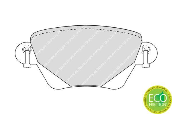 FDB1416 Bremsbelagsatz FERODO - Markenprodukte billig