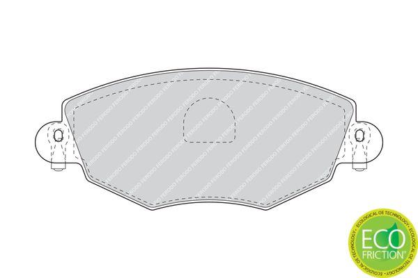 FERODO | Bremsbelagsatz, Scheibenbremse FDB1425