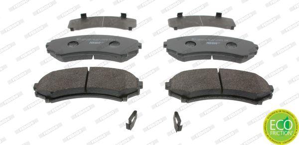 FERODO: Original Bremsklötze FDB1603 (Höhe 1: 59mm, Dicke/Stärke: 15,2mm)