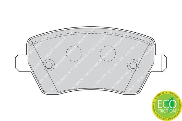FDB1617 Bremssteine FERODO in Original Qualität