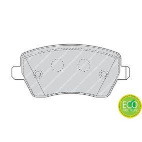 FDB1617 Bremsbelagsatz, Scheibenbremse FERODO in Original Qualität
