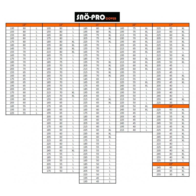 SNO-PRO | Copri pneumatici 160