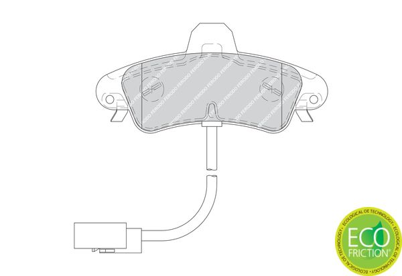 Bremsbelagsatz Scheibenbremse FERODO FDB1753