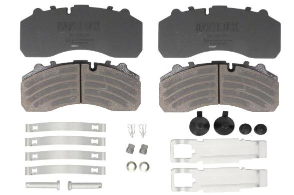 DANBLOCK Bremsbelagsatz, Scheibenbremse für SCANIA - Artikelnummer: DB 2910882