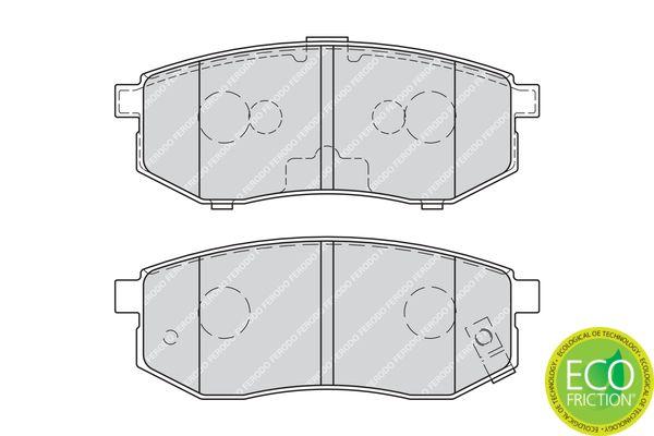23610 FERODO PREMIER ECO FRICTION mit akustischer Verschleißwarnung, mit Bremssattelschrauben Höhe 1: 39mm, Dicke/Stärke 1: 14,9mm, Dicke/Stärke: 15,5mm Bremsbelagsatz, Scheibenbremse FDB1970 günstig kaufen