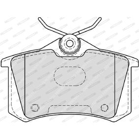Bremsbelagsatz, Scheibenbremse FDB4183 von FERODO