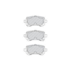 FDB4196 Bremsbelagsatz, Scheibenbremse FERODO 24833 - Große Auswahl - stark reduziert