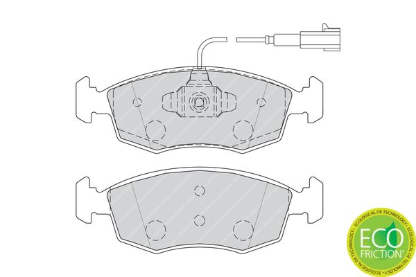 FDB4353 Bremssteine FERODO in Original Qualität