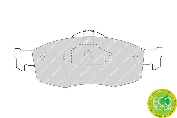 Bremsbelagsatz Scheibenbremse Ford Mondeo BFP hinten + vorne 1996 - FERODO FDB884 (Höhe 1: 59mm, Dicke/Stärke: 17,5mm)