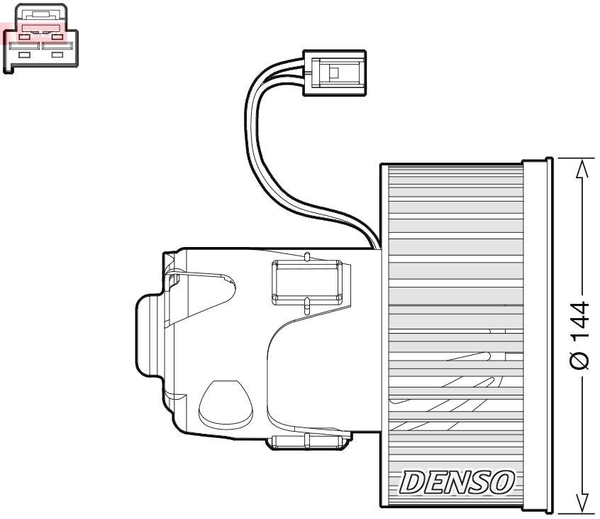 DENSO: Original Klima DEA05008 (Spannung: 12V)