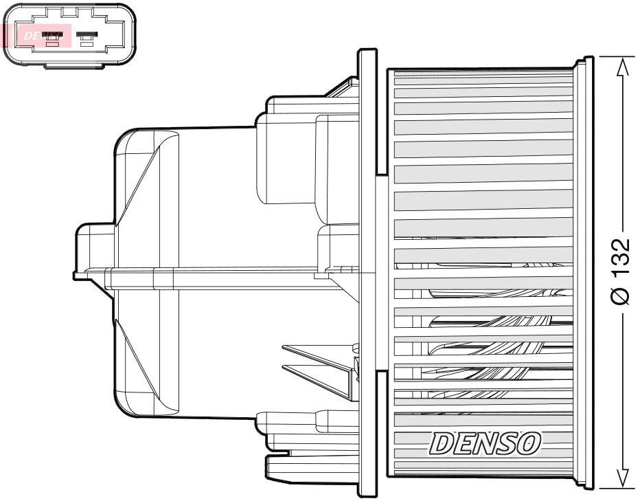 VOLVO V60 2020 Heizgebläsemotor - Original DENSO DEA33002 Spannung: 12V