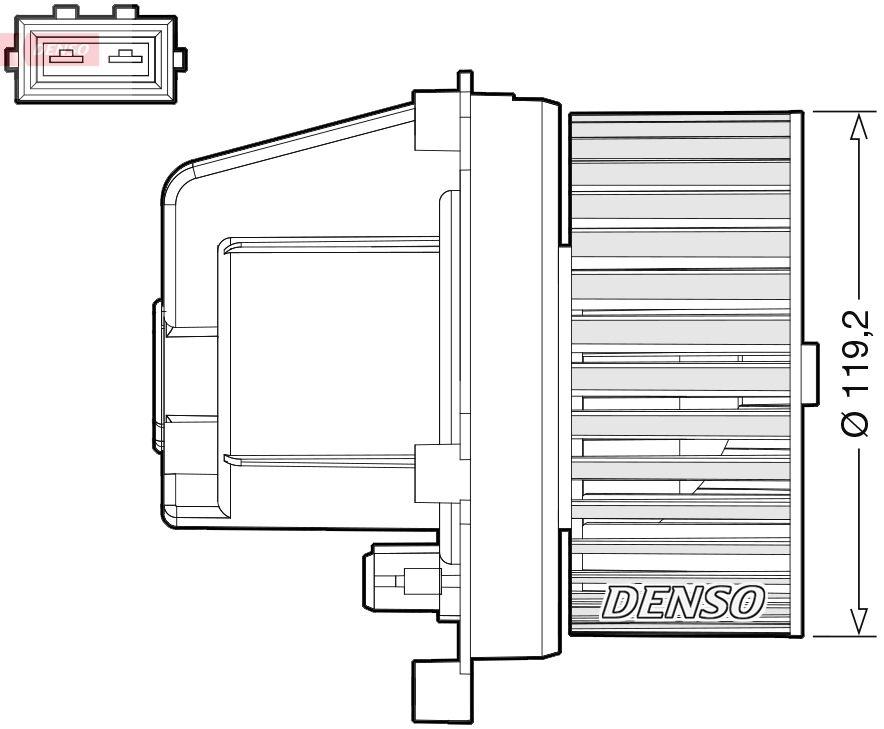 Innenraumgebläse DEA33003 Volvo V70 2006