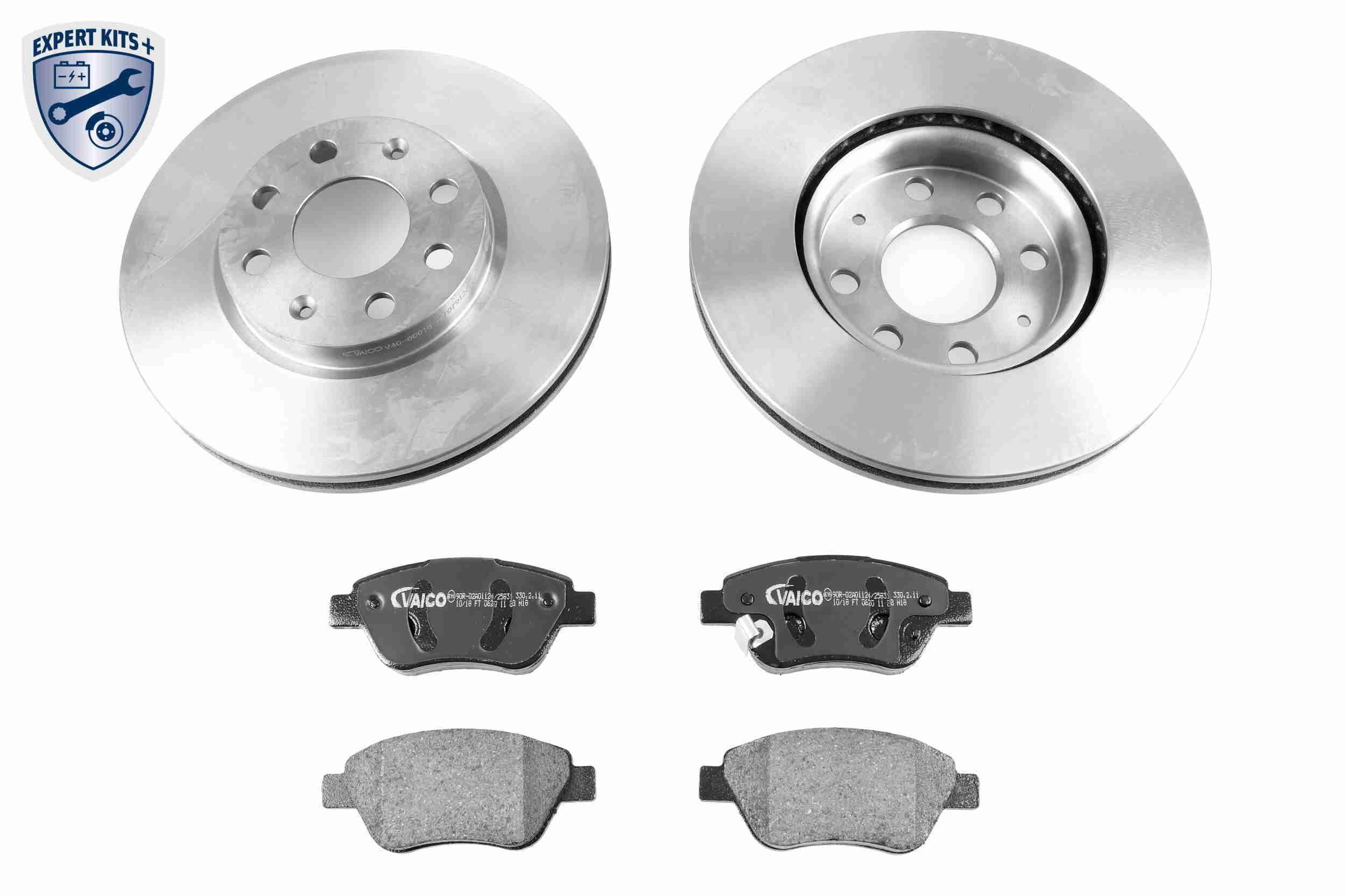 VAICO: Original Bremsscheiben und Beläge V40-1614 (Ø: 257mm, Bremsscheibendicke: 22mm)