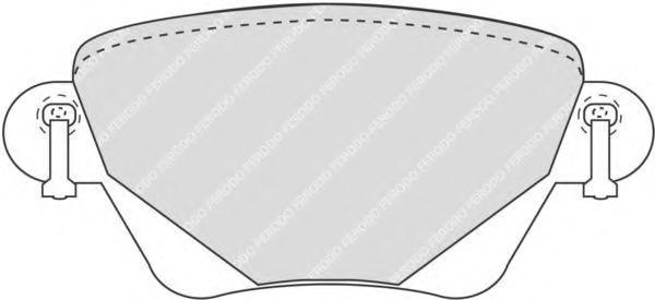 23557 FERODO Hinterachse, exkl. Verschleißwarnkontakt, mit Bremssattelschrauben Höhe: 49,7mm, Dicke/Stärke: 16,8mm Bremsbelagsatz, Scheibenbremse FQT1416 günstig kaufen