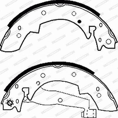 FSB173 Trommelbremsbacken FERODO - Markenprodukte billig