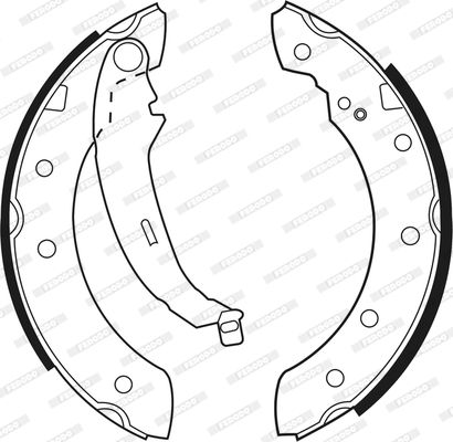 FSB519 Bremsbacken FERODO FSB519 - Große Auswahl - stark reduziert