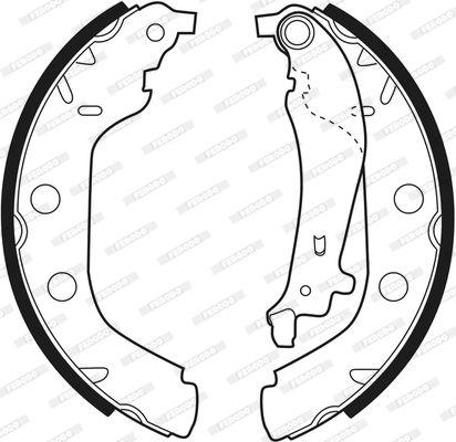 FSB547 Bremsbacken FERODO FSB547 - Große Auswahl - stark reduziert