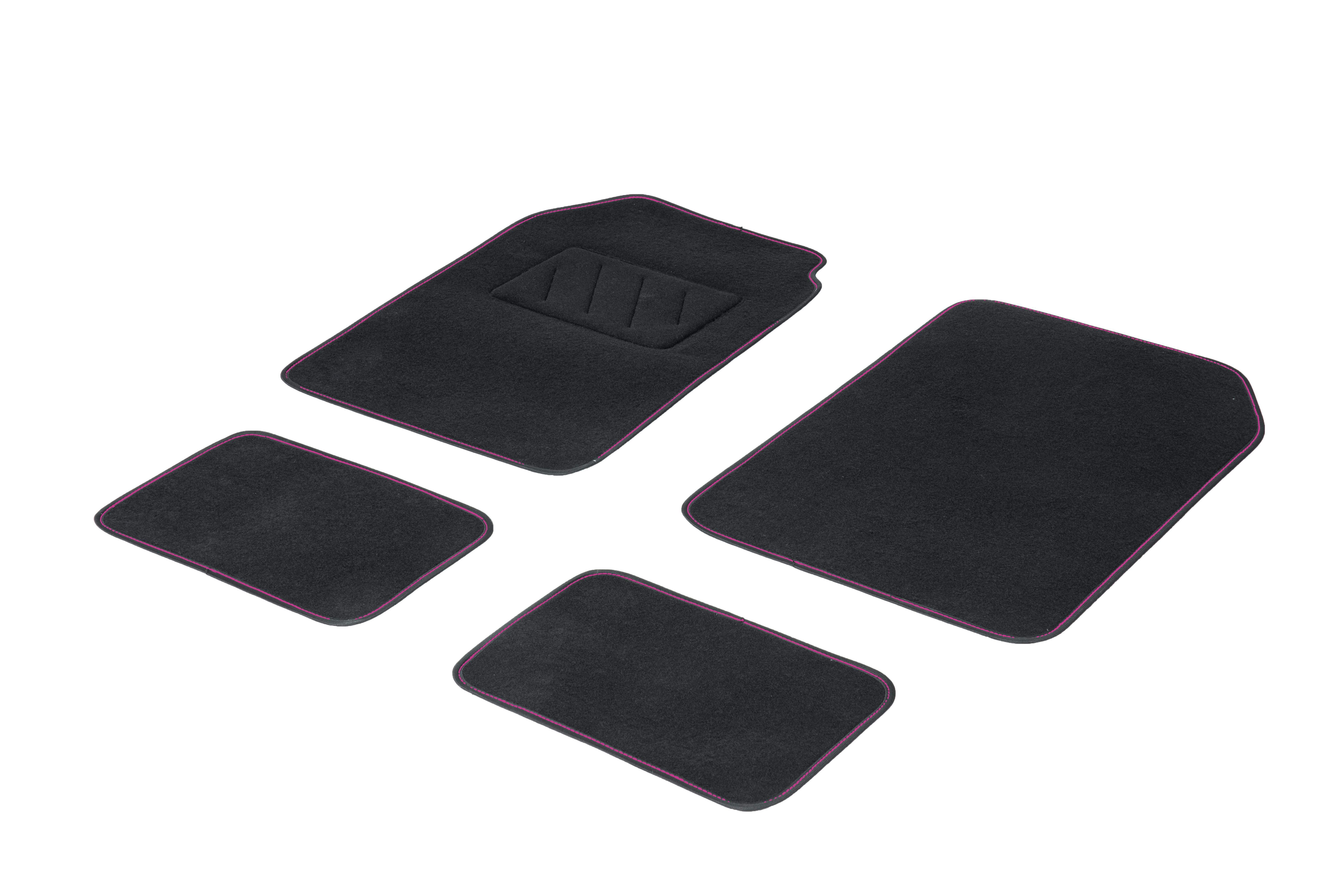 01765718 DBS Universelle passform Textil, vorne und hinten, Menge: 4, schwarz, rosa Größe: 73х46 Fußmattensatz 01765718 kaufen