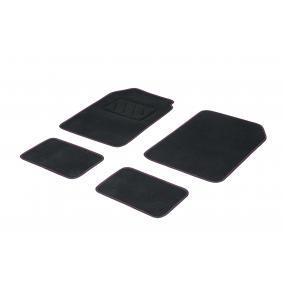 01765718 DBS Universeel geschikt Textiel, Voor en achter, Aantal: 4, Zwart, Rose Grootte: 73х46 Vloermatset 01765718