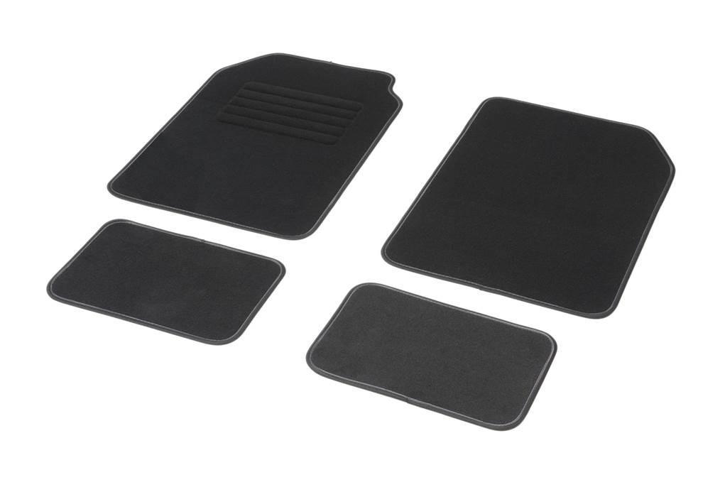 Achat de 01765758 DBS Adaptation universelle, STANDARD Textile, avant et arrière, Quantité: 4, noir Taille: 72х45 Ensemble de tapis de sol 01765758 pas chères