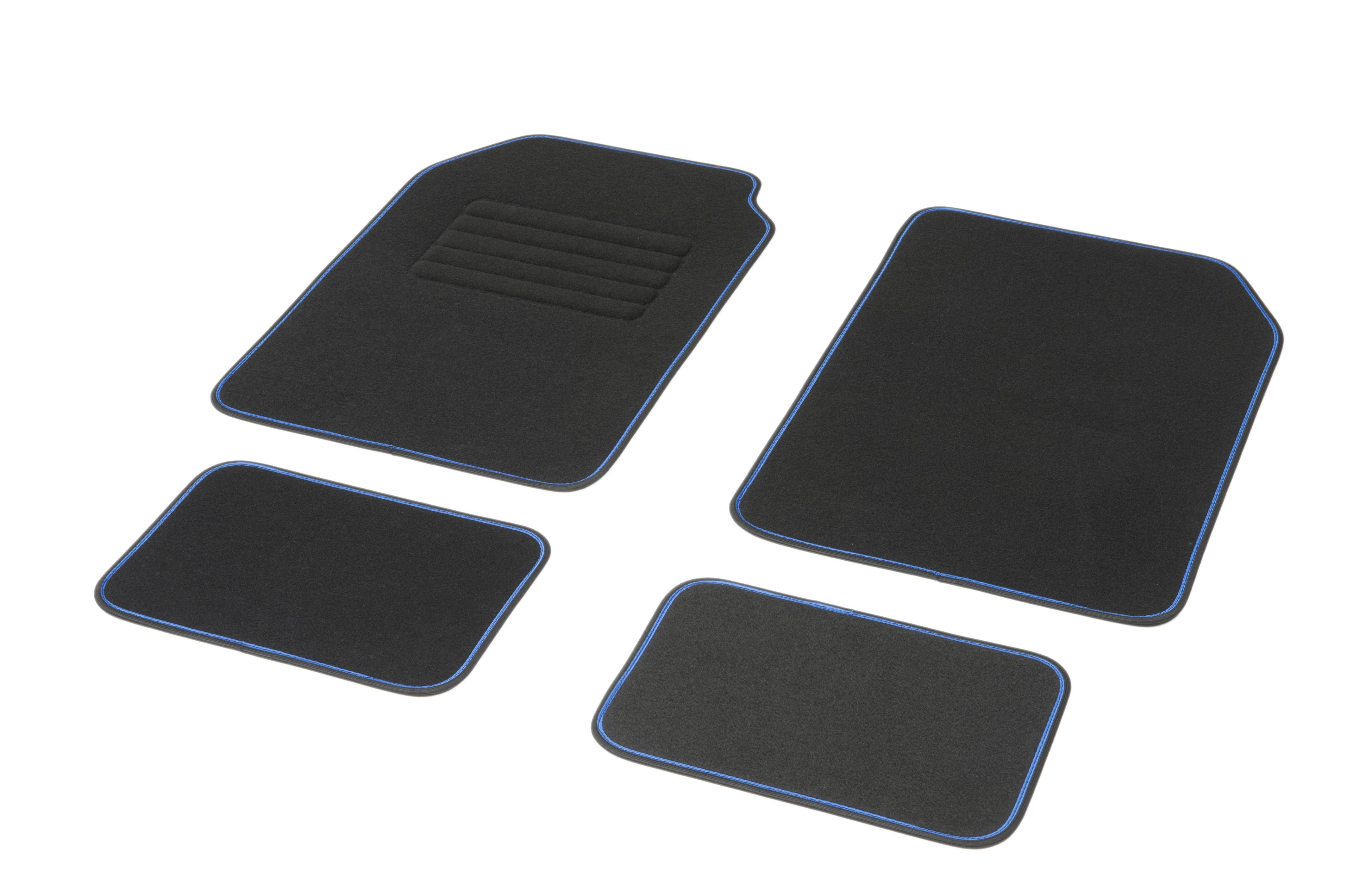 Achat de 01765760 DBS Adaptation universelle, STANDARD Textile, avant et arrière, Quantité: 4, bleu, noir Taille: 72х45 Ensemble de tapis de sol 01765760 pas chères