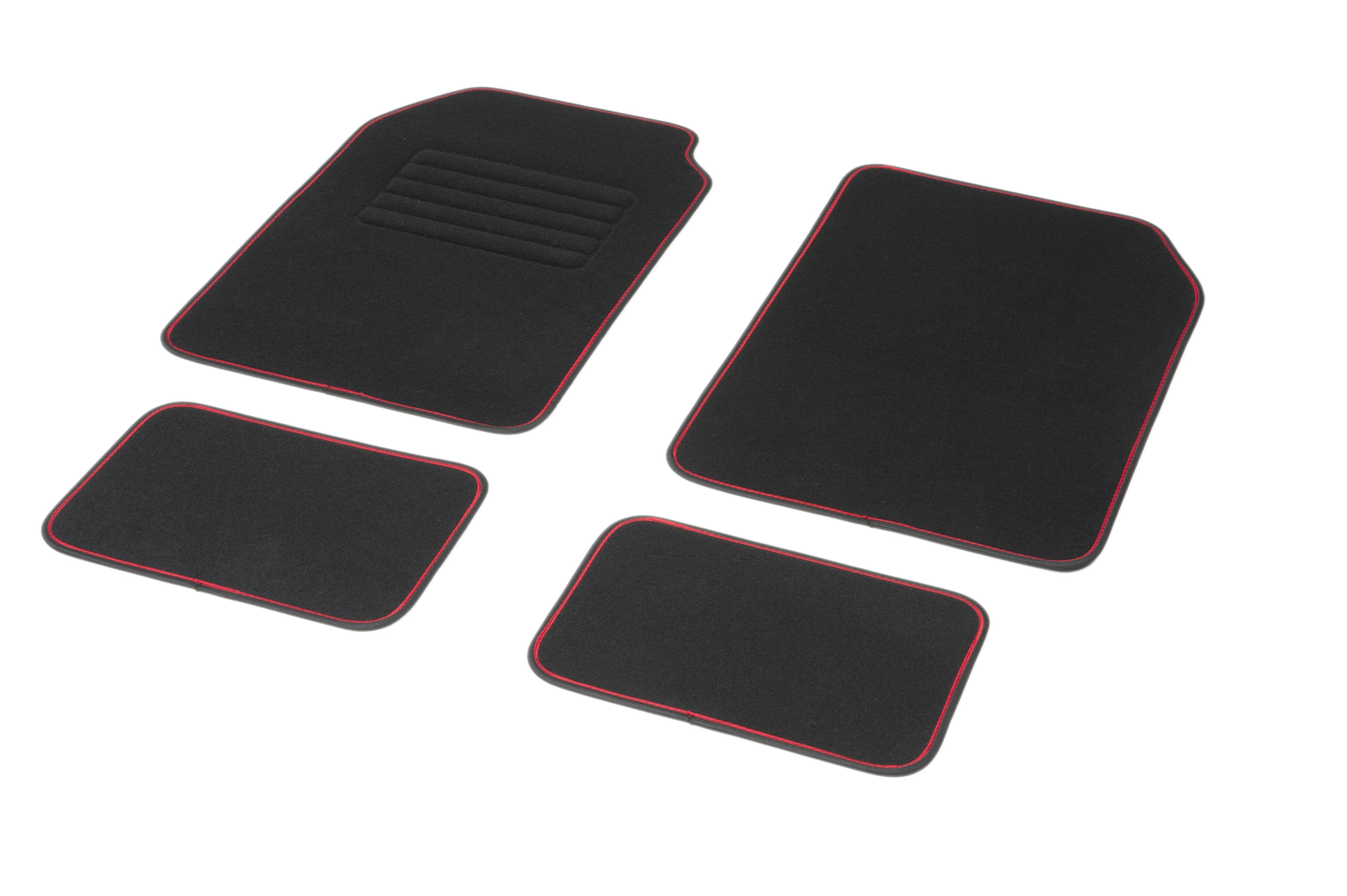 01765761 DBS Universelle passform, STANDARD Textil, vorne und hinten, Menge: 4, schwarz, rot Größe: 72х45 Fußmattensatz 01765761 kaufen