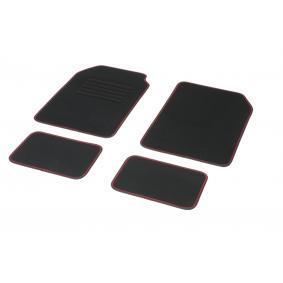 01765761 DBS STANDARD, Universeel geschikt Textiel, Voor en achter, Aantal: 4, Zwart, Rood Grootte: 72х45 Vloermatset 01765761