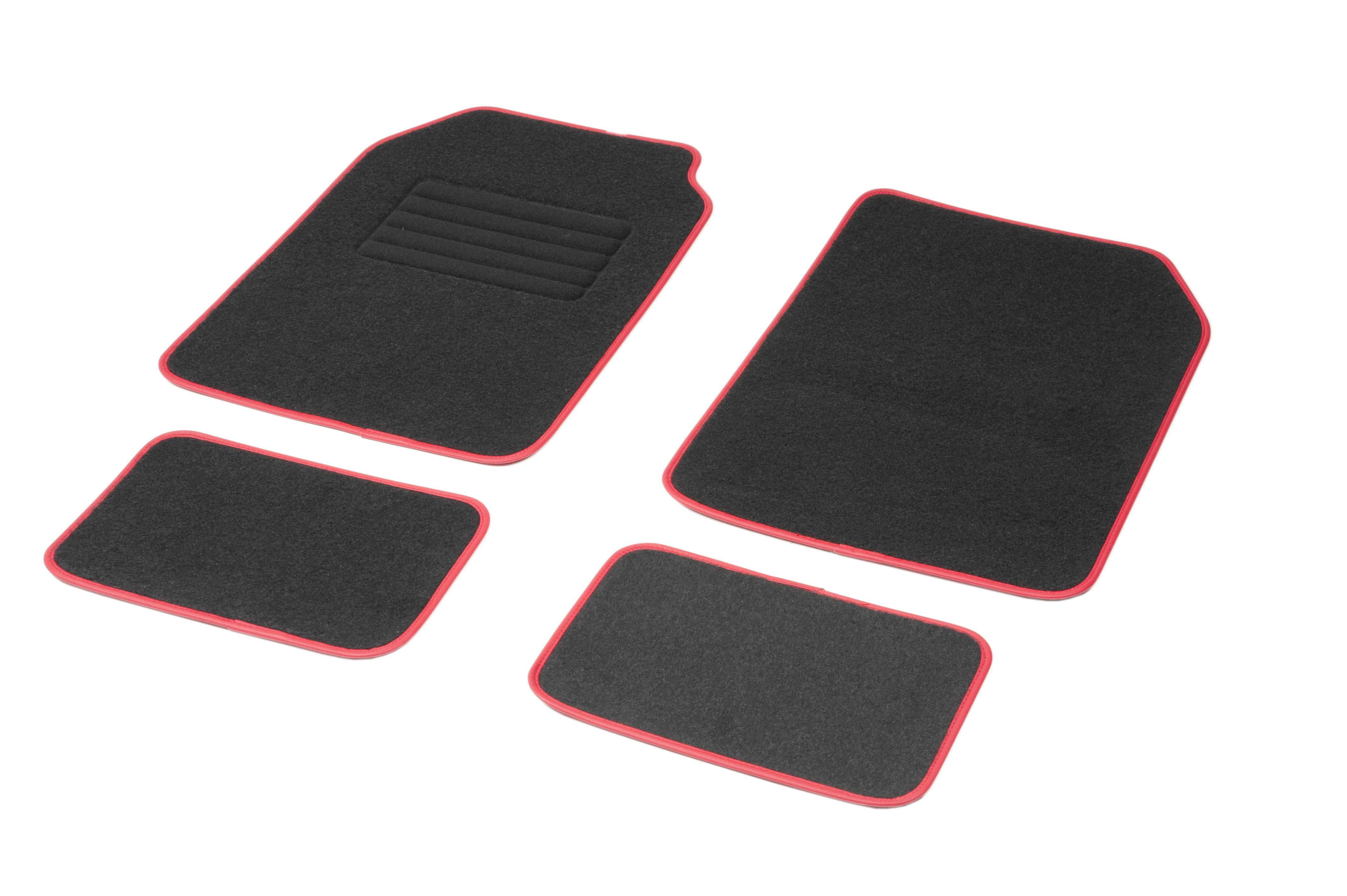 01765766 DBS Universelle passform, STANDARD Textil, vorne und hinten, Menge: 4, schwarz, rot Größe: 73х46 Fußmattensatz 01765766 kaufen