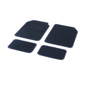 01765793 DBS Universeel geschikt Textiel, Voor en achter, Aantal: 4, Zwart, Violet Grootte: 73х46 Vloermatset 01765793