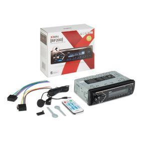 RF 200 XBLITZ med fjärrkontroll, Kopplingar/Kontakter: AUX in, Kopplingar/Kontakter: USB, WMA, MP3, WAV, APE, OGG, AAC Effekt: 4x50W Stereoanläggning RF 200 köp lågt pris