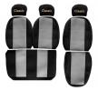 PS03 GRAY Autostoel hoesjes Grijs, Met motief, Textiel, Voor van F-CORE aan lage prijzen – bestel nu!