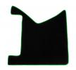 CMT18 GREEN Tapis de voiture vert F-CORE