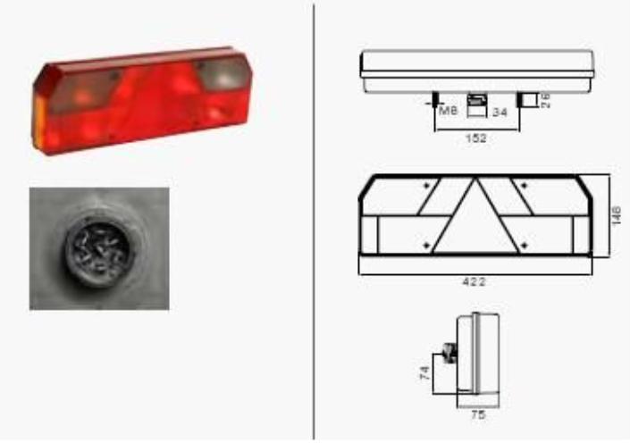 Luce posteriore 25-5400-507 Aspock — Solo ricambi nuovi