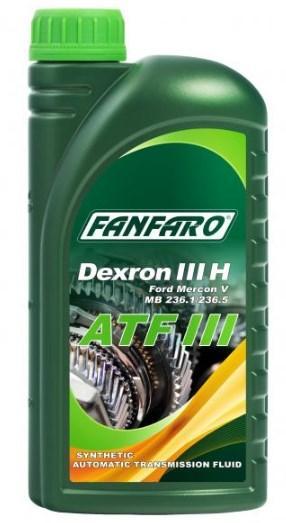 Αγοράστε FF8603-1 FANFARO ATF III Χωρητικότητα: 1l, Allison C4, Allison TES 389 Λάδι αυτόματου κιβωτίου ταχυτήτων FF8603-1 Σε χαμηλή τιμή