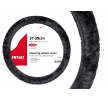 01357/71067 Steering wheel cover Ø: 37-39cm, Leatherette, Polyester, Grey from AMiO at low prices - buy now!