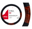 01358/71068 Steering wheel cover Ø: 37-39cm, PP (Polypropylene), Black, Brown from AMiO at low prices - buy now!