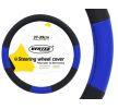 71069/01359 Steering wheel cover Ø: 37-39cm, PP (Polypropylene), Black, Blue from AMiO at low prices - buy now!