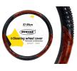 AMiO 71079/01369 Lenkradabdeckung Ø: 37-39cm, Eco-Leder, schwarz, braun zu niedrigen Preisen online kaufen!