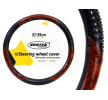 71079/01369 Steering wheel protectors Ø: 37-39cm, Leatherette, Black, Brown from AMiO at low prices - buy now!