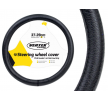 71092/01382 Steering wheel cover Ø: 37-39cm, Leather, Black from AMiO at low prices - buy now!