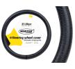 71092/01382 Funda cubierta para el volante Ø: 37-39cm, cuero, negro de AMiO a precios bajos - ¡compre ahora!