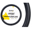 71093/01383 Steering wheel cover Ø: 39-41cm, Leather, Black from AMiO at low prices - buy now!