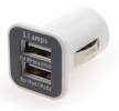 71133/01026 Automobilinis telefono įkroviklis įleidimo / išleidimo angų skaičius: 2 USB, balta iš AMiO žemomis kainomis - įsigykite dabar!