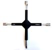 RT0017 Křížový klíč na kolo Four-way rim wrench, ocel, Rozmer klice: 17, 19, 21 od KAMAR za nízké ceny – nakupovat teď!