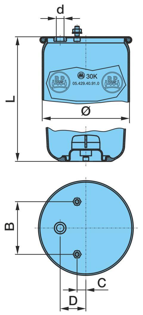 Federbalg, Luftfederung BPW 05.429.40.91.0