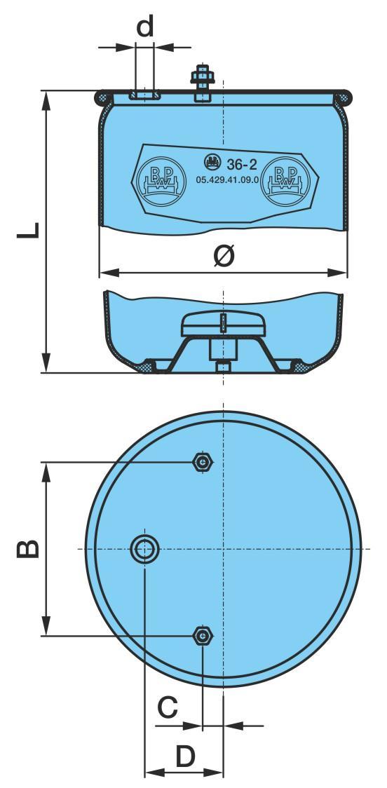 Federbalg, Luftfederung BPW 05.429.41.09.0