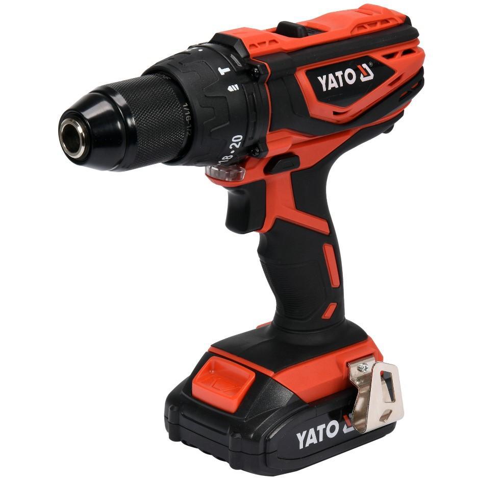 YT-82786 YATO Spannung: 18V, Batterie-Kapazität: 2Ah, Spannbereich Bohrfutter bis: 13mm, Drehzahl bis: 16501/min, Drehmoment bis: 40Nm Akkuschrauber YT-82786 günstig kaufen