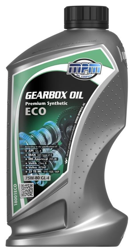 18001ECO MPM Premium Synthetic, ECO 75W-80, Synthetiköl, Inhalt: 1l API GL-4, ZF TE-ML 01E, ZF TE-ML 02E, ZF TE-ML 16P, MAN 341 type Z-5, MB-Approval 235.28, Voith Class B, Volvo 97307 Getriebeöl 18001ECO günstig kaufen