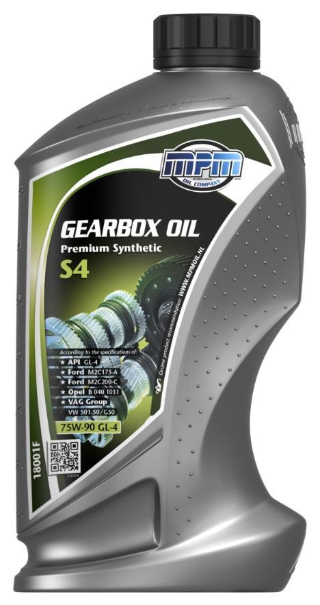 18001F MPM Premium Synthetic, S4 75W-90, Vollsynthetiköl, Inhalt: 1l API GL-4, Ford M2C175-A, Ford M2C200-C, Opel/GM B 040 1031, VW 501.50, VW G50 Getriebeöl 18001F günstig kaufen